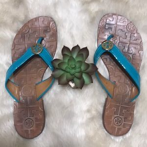 TORY BURCH THORA sandals logo flip flops 6